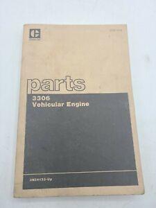 Caterpillar Parts Book 3306 Vehicular Engine 3N24133-UP