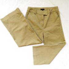 J Crew Womens Career Rayner Chino Khaki Cropped Wide Leg Pants 4 E9356 **READ**