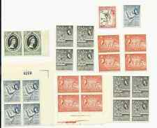 ADEN 1953 TO 1958 MNH STAMPS & BLOCKS SCOTT #s 47, 49, 53, 54, & 57a FREE SHIP
