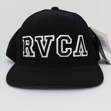NWT RVCA Starter Twill Snapback Hat Black / White - $34.00