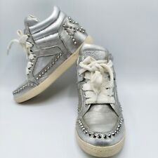 Ash Women's Leather Sneakers Limited edition Studs zest silver Siz 36 US 5 Rock