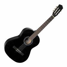 Tolle 7/8 Konzertgitarre für Kinder und Jugendliche in trendigem Schwarz