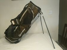 TAYLORMADE TAYLITE STAND GOLF BAG 6 DIVIDERS BLACK/SILVER