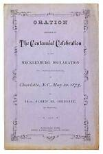 John M BRIGHT / Oration Delivered at The Centennial Celebration First Edition