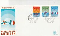 Netherlands Antillen 1982 PhilexFrance  Slogan Cancel FDC Stamps Cover Ref 25206