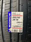 2 New 265 40 19 Michelin Pilot Super Sport Tires
