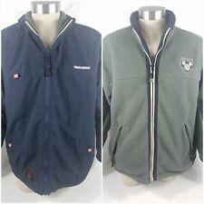 Disney Mickey Mouse Gear Blue Reversible Fleece Jacket All Weather Size XL