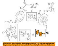 AUDI OEM 09-15 TT Quattro Brake-Rear Pads 1K0698451G