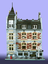 LEGO MOC Custom Modular Brick Alley Condominium instructions 10243-10218-10251