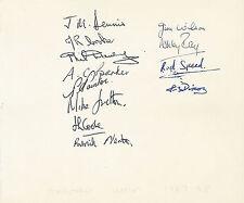 Equipo de rugby de la Universidad de Oxford 1967-Página del álbum de 1968 + certificado De Autenticidad