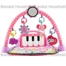 Fisher- Kick Play Piano Gym Pink 0 Years 5 Activity Music Toys Mirror Mat