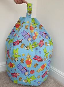 Filled toddler children's telly tubbies bean bag blue Ideal Christmas gift new