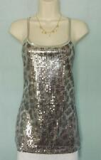 Dazzling Boston Proper Sequin Animal Square-neck Tank, S 6-8, NEW