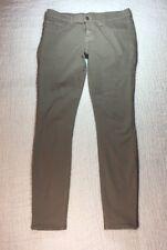 J BRAND Pants SZ 28 The Skinny Taupe Cotton Stretch Made USA
