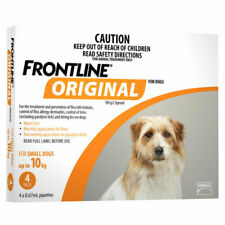 FRONTLINE Original Flea Treatment for Small Dogs up to 10kg - Pack of 4