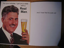 """1 Funny Comedy Humor Adult Birthday Card """"For Your Birthday, I Got You A Date.."""""""