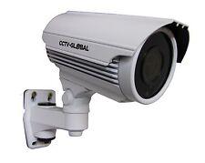 1080p 2.4MP HD TVI AHD CVI ANALOGUE CCTV BULLET WHITE CAMERA 2.8-12mm 60M IR