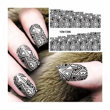 Nail Art Stickers Water Decals Transfers Triangle Shape Gel Polish