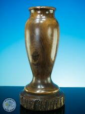 More details for mulga wood vase mid century dated 1924 by a.j.wiley australia