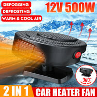 🔥 12V 500W 2in1 Car Auto Heater Cooler Dryer Fan Defroster Demister Portable