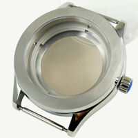 42MM Waterproof Watch Case Sapphire Crystal Glass 316L Steel For NH35 Movement