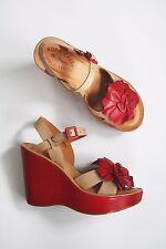 Anthropologie Shoes KORK EASE FLOWER WEDGE SANDALS Hippie 70s Platform Comfort 6