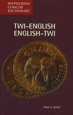 Hippocrene Concise Dictionary: Twi English, English Twi Concise Dictionary by...
