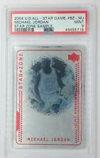 Rare Sample: 2004 UD Star Zone Michael Jordan #SZ-MJ, Graded PSA 9, Pop 14, 2 ^!