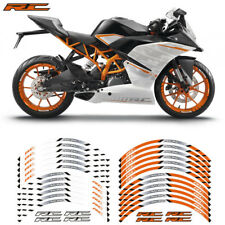 FIT FOR KTM RC MOTORCYCLE RIM STRIPES WHEEL DECALS TAPE STICKERS
