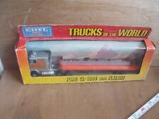 Vintage Ertl Trucks of the World Semi Truck 1455 Ford CL 9000 with Flatbed