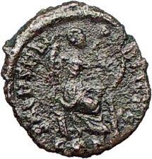 AELIA FLACILLA 379AD Ancient Rare Roman Coin VICTORY CHI-RHO Christ  i27440