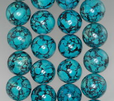 """16MM BLUE TURQUOISE GEMSTONE BLUE GREEN ROUND 16MM LOOSE BEADS 16"""""""