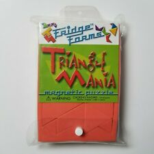 Fridge Forms Triangle Mania Magnetic Foam Tiles Shapes Puzzle Building Game Math