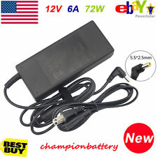 AC/DC 12V 6A 72W Power Supply Charger Adapter for LED Strip Light CCTV Camera us