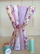 Purple Fat Quarter Fabric Bundle SO PRETTY FQ Patchwork Craft Fabric Dressmaking