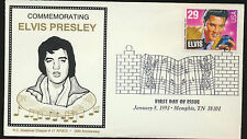 2721 Elvis Presley FDC Issue Fancy Music Cancel Graebner Chapte Memphis LOT A214