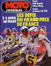 MOTO JOURNAL  598 HONDA GL 650 Silver Wing YAMAHA TR1 GP de France MANS 1983