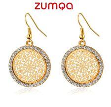 Circles Flowers Vintage Earrings by ZUMQA