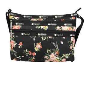 Le Sportsac Garden Rose Print Quinn Shoulder Bag 3352-F632