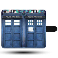 Tardis Police Phone Box Booth Time Travel Synthetic Fabric Phone Case Cover