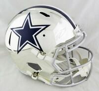 CeeDee Lamb Autographed Dallas Cowboys F/S Chrome Speed Helmet - Fanatics Auth