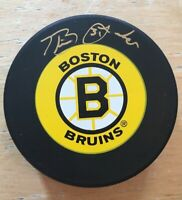 BLAINE LACHER AUTOGRAPH BOSTON BRUINS OFFICIAL NHL HOCKEY PUCK
