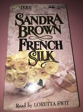 French Silk by Sandra Brown-Audiobook-Cassette Tapes-Adult Romance-Very Good