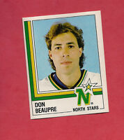 RARE 1987 NORTH STARS  # 289 DON BEAUPRE GOALIE  STICKER CARD