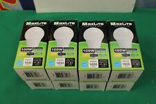 (8) Maxlite Dimmable LED Bulb 100W - Replacement 15W LED - 1600 lumens **NEW**