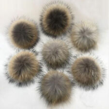 Faux Raccoon Fake Fur Hair Huge Ball Fluffy Pompom Pendant For Hat Bag Shoes New