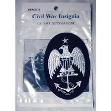 """REPLICA CIVIL WAR INSIGNIA US NAVY PETTY OFFICER PATCH 3 1/2"""" X 2 1/2"""" NEW"""