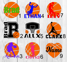 Basketball personalized Name Decal Color 3inchx3inch