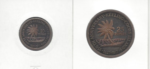 Cocos & Keeling Islands 1977 10 Rupee and 25 Rupee Silver Proof Set