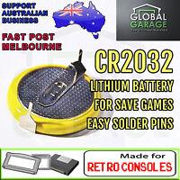 5x CR2032 Tabbed Battery Cartridge Save Game Nintendo SNES Sega Master System x5